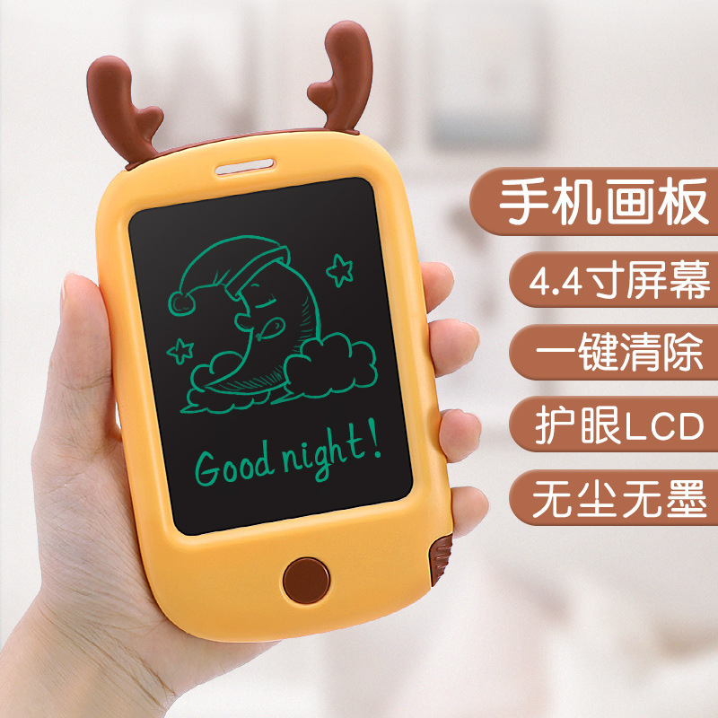2942 # Platypus Children 4.4-Inch Mobile Phone Sketchpad Baby Early Childhood Educational LCD Electronic Graffiti