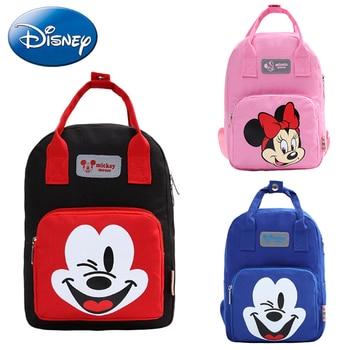 Disney Mickey Minnie Mouse Kids Girls Boy Backpack School-Bags Cartoon New Children Backpacks Kindergarten Nursery BookBag Gift 2019 disney lovely mickey minnie mouse kids backpack girls shool bags children plush backpacks bags kindergarten book bag gift