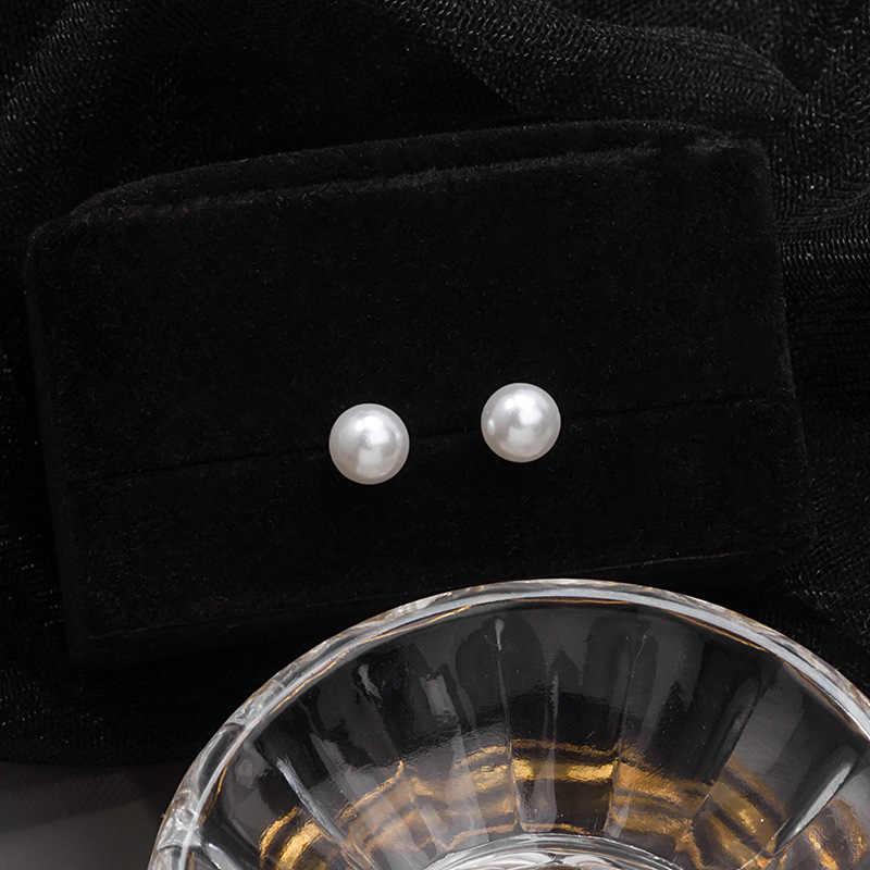 Orecchini di perle Per Le Donne In Argento Orecchini Con Perno Popolare di Aggancio Del Partito di Cerimonia Nuziale Dei Monili Degli Orecchini