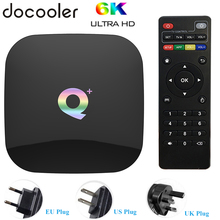 Q Plus Allwinner H6 6K Smart Tivi Box Android 9.0 4GB 64GB 32GB Quad Core USB3.0 playstore Youtube Q Plus Wifi Set Top Box PK T95Q