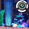 Wpuszczone podwodne oświetlenie do akwarium zmiana koloru LED lampa z efektem bąbelków powietrza akwarium lampa w kształcie bańki powietrznej wytwarzanie tlenu do akwarium