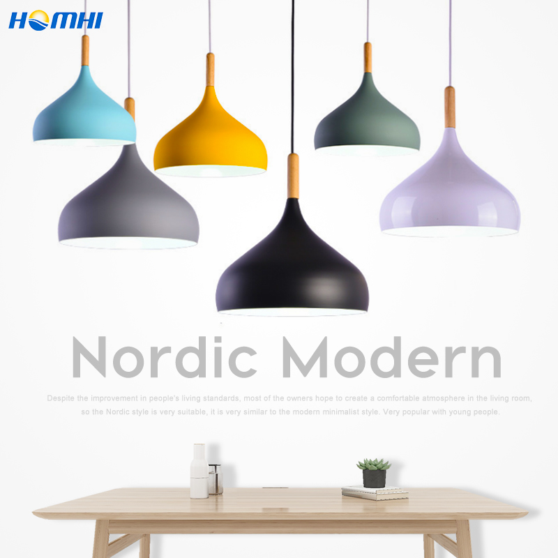 Nordic Grau Moderne küche lampe anhänger holz Krippe lustre suspension dänischen design kind zimmer lampe kronleuchter in die nuesery