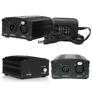 Image 5 - 48 48v ファンタム電源アダプタコンデンサーマイクサウンドカードのプラグ EU プラグ