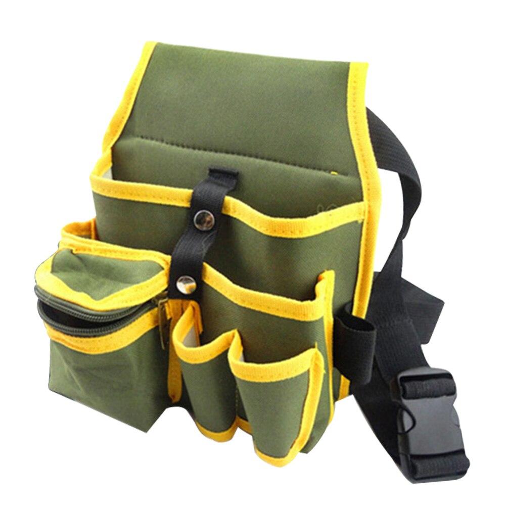 Waist Pocke Tool Bag Adjustable Buckle For Electrician Holder Maintenance Storage Wear Resistant Travel Durable Oxford Cloth