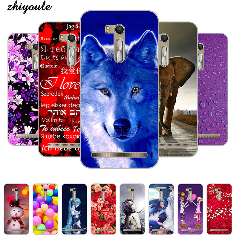 Colorful Cell Phone Covers Case for <font><b>Asus</b></font> <font><b>Zenfone</b></font> Go ZB552KL <font><b>X007D</b></font> Soft TPU Cases Printed Back Cover Capa Full Protective Shell image