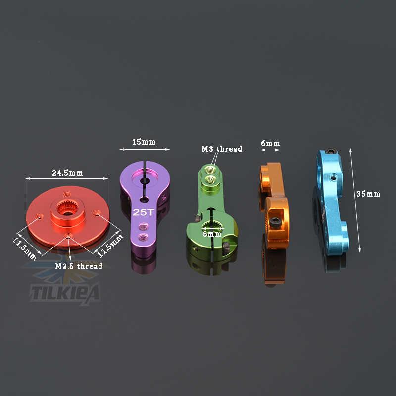 1pc 25T aluminium RC Servo bras klaxon pour S0150 S3003 S0060 MG995 MG996R E9001 Futaba Savox Xcore HL HSP HD puissance 3-20kg RC outils
