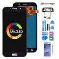 100% супер AMOLED LCD для Samsung Galaxy A7 2017 A720 A720F SM-A720F ЖК-дисплей + кодирующий преобразователь сенсорного экрана в сборе Бесплатная доставка