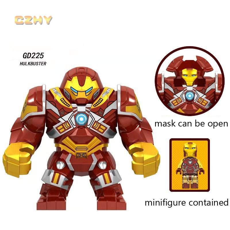 Avengers LEGOEINGLY Blocks Large Hulkbuster Killer Croc Thanos Infinity Gauntlet Black Panther Building Blocks MINIFIGURED Toys