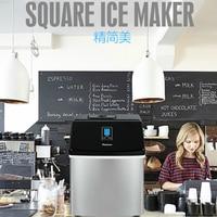 220V 25kg Commercial Small Milk Tea Shop Square Ice Home Bar Bar Square Ice Cube Maker Ice Maker Ice Machine