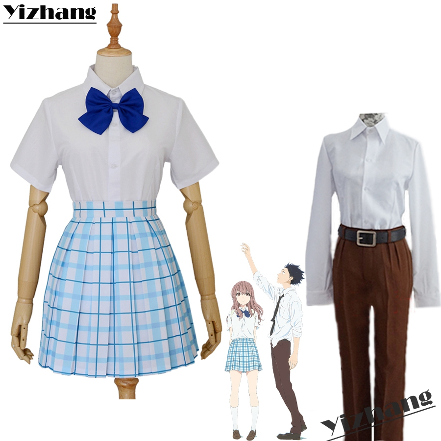 Anime A Silent Voice Nishimiya Shouko Ishida shouya T-shirt Adult Unisex Costume