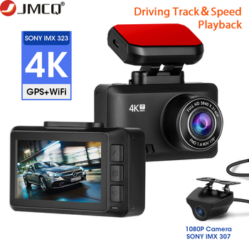 4K Dash Cam Car Camera Dashcam 3840*2160P 30FPS Ultra HD DVR Video Recorder APP GPS Tracker Dashcam Gesture Photo WiFi image