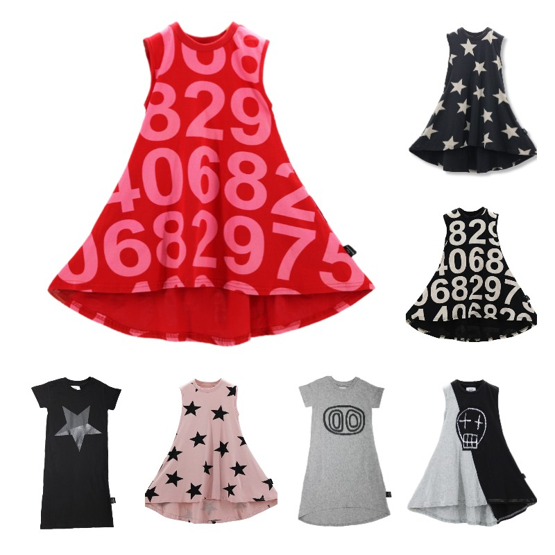 Brand Children's Dress For Girls Fashion Cotton Sleeveless Party Dress For Kids Girl Casual A-line Princess Girls Clothing