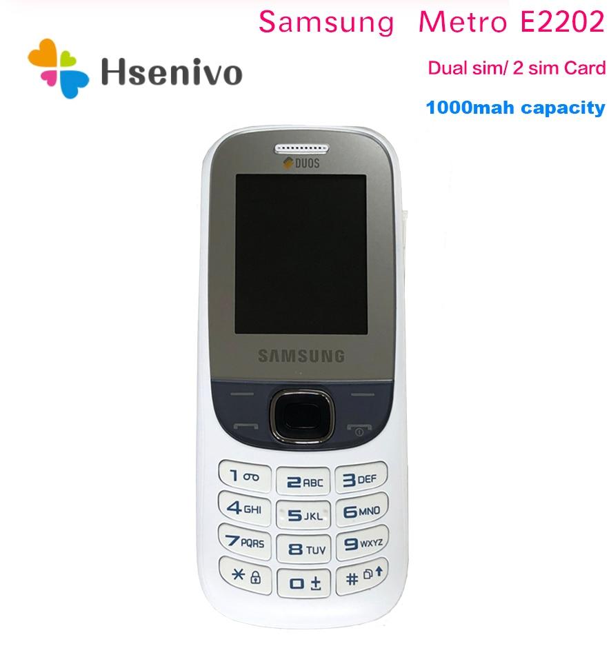 100% Original Samsung Metro E2202 GSM Unlocked Mobile Phone 1.8