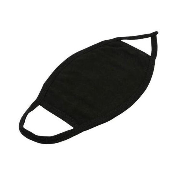 1 PC 100% Cotton Black Mask Warm Mouth Anti-Dust Face Mask Outdoor Respirator Winter Mask For Women And Man
