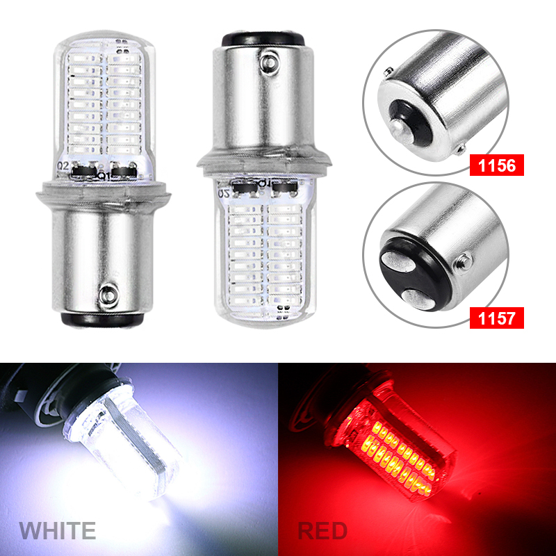 2pcs LED <font><b>1156</b></font> <font><b>P21W</b></font> <font><b>BA15S</b></font> 1157 BAY15D 4014 36 LED Auto Brake Lamps Car Daytime Running Light Reverse Bulbs Turn Signals White Red image