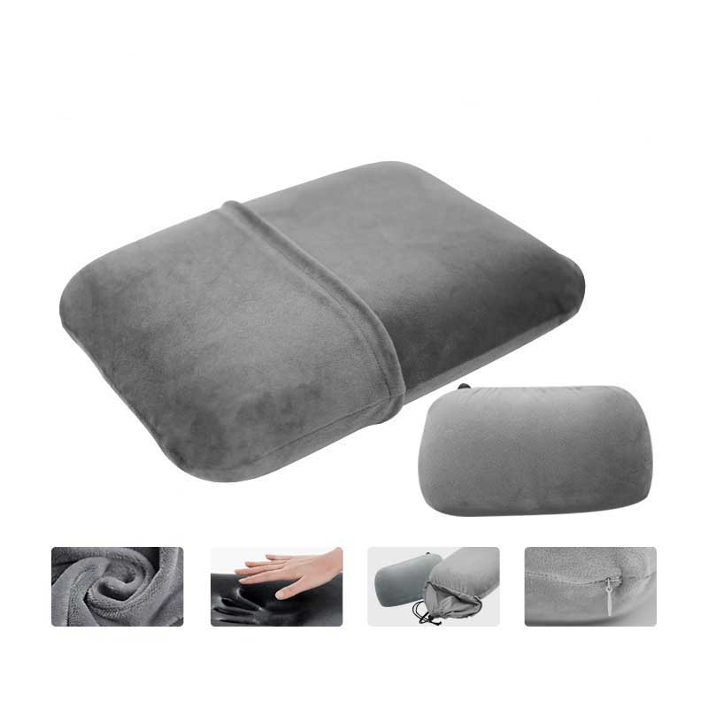Slow Rebound Memory Foam Outdoor Camping Travel Airplane Sleeping Pillows Portable Office Nap Cushions image