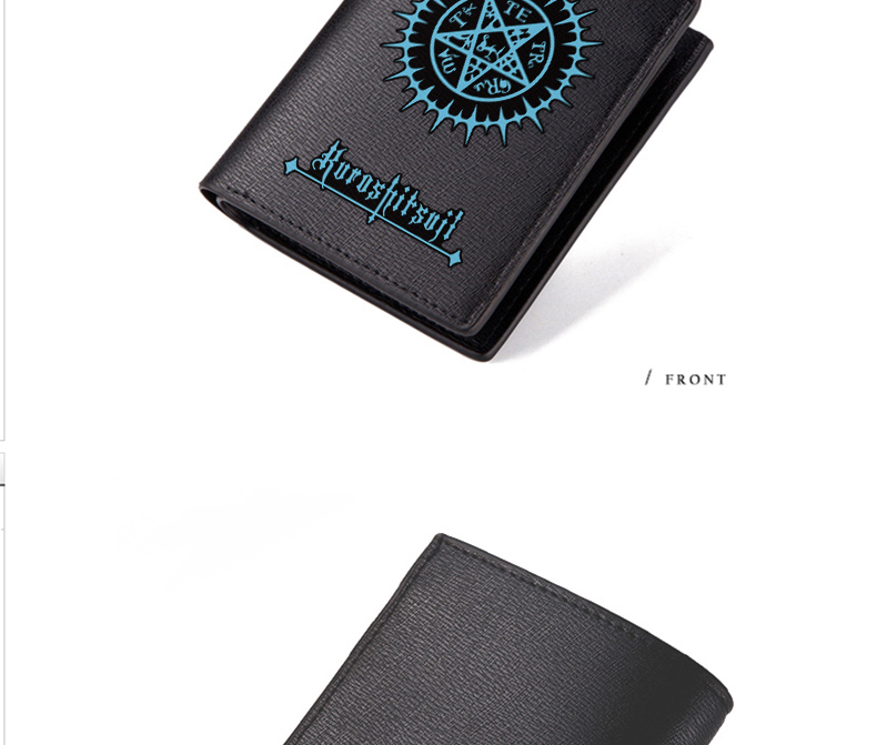 Black Butler Wallet Ciel Phantomhive Sebastian Michaelis Black Long PU Purse (3)