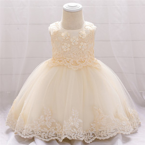 Крещение вечерние платье для младенцев Платье для маленьких девочек на возраст от 0 до 24 месяцев, 1 год для маленьких девочек s платье для дев...
