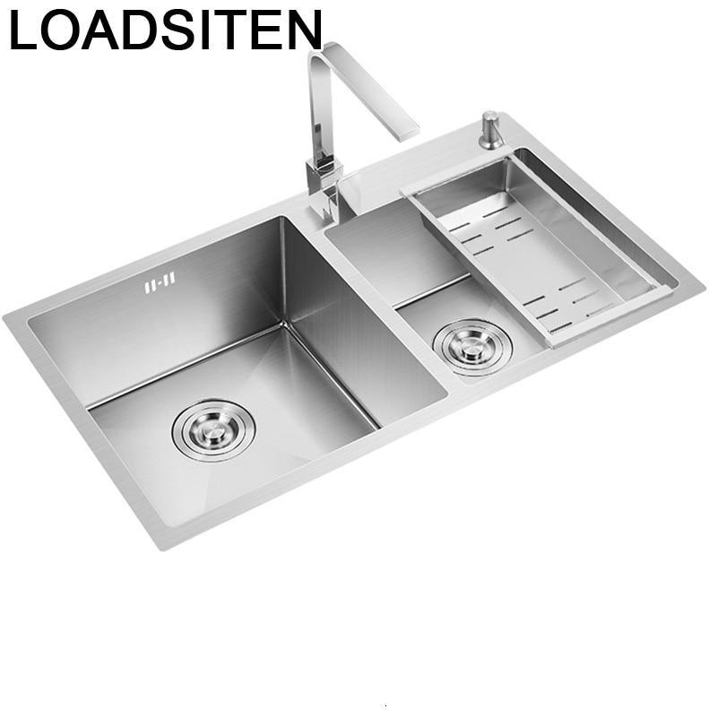 Lavello Cucina Acero Inoxidable Zlewozmywak Faucet Spoelbak Kitchen Pia Cozinha Lavabo De Cocina Fregadero Dishwash Sink