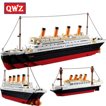 Movie series Building Block kits city Titanic RMS cruise ship 3D blocks Educational model building toys hobbies for children ausini building block set compatible with lego pirates series 158 3d construction brick educational hobbies toys for kids page 2