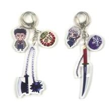 Anime Demon Slayer Kimetsu Geen Yaiba Sleutelhanger Sleutelring Brinco Blade Van Ghost Choker Kamado Tanjirou Cosplay Sieraden
