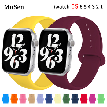 silicone strap for apple watch 42mm 38mm 44mm 40mm strap rubber bands for iwatch bracelet series 5 4 3 2 1 red blue green black Soft Silicone Bands for 42MM Apple Watch 6 Band 6 SE 5 4 3 2 1 38MM 42MM Rubber Watchband Strap for iWatch Series 4/5 40MM 44MM