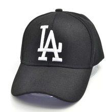 Casquette de Baseball unisexe avec lettre LA brodée, chapeau Hip-Hop pour hommes et femmes, pare-soleil réglable pour l'extérieur