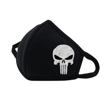 Anime Frank Castle Mouth Face Mask Dustproof Breathable Facial Protective Cute Unisex Cartoon Mouth Cover Cotton Mouth Mask