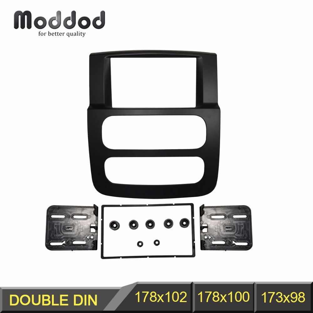 Doble 2 DIN marco de la ranura de instalación de radio para Jeep VW Dodge Ram