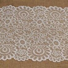 3 metro/lote 22cm preto branco tecido de renda diy artesanato costura suppies decoração acessórios para vestuário elástico guarnição do laço