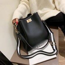 Sac à main en cuir PU pour femmes, sac seau noir de styliste, sac à bandoulière Vintage pour dames, sacoche de bonne qualité, 2021