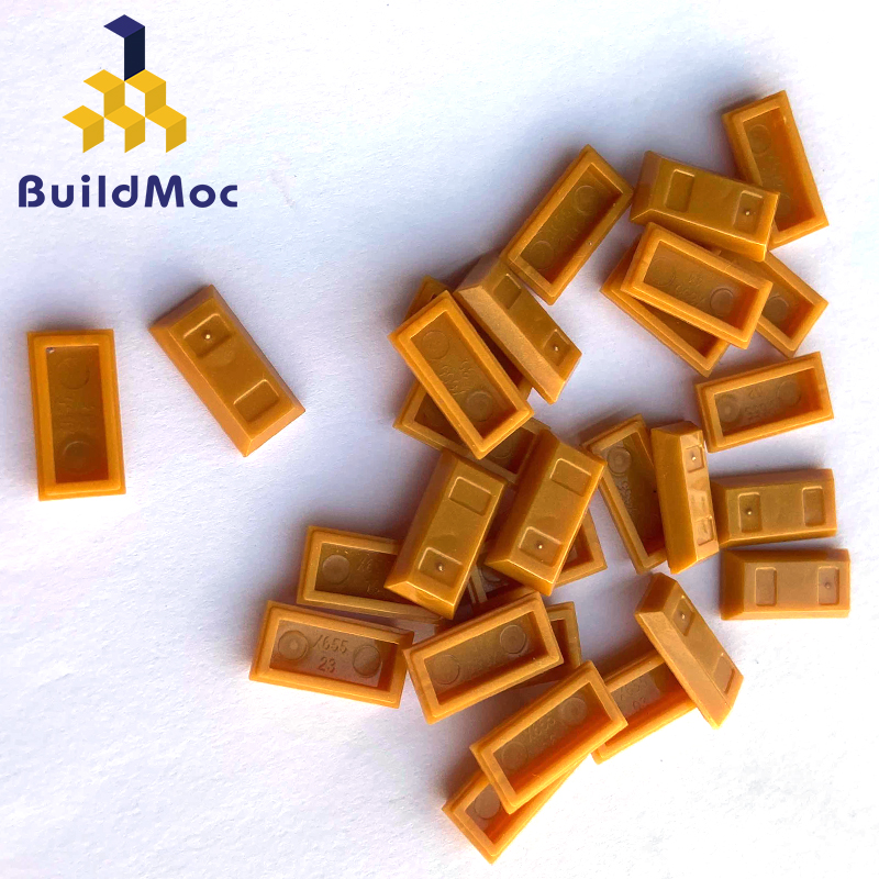 BuildMOC Compatible Assembles Particles 99563 Minifigure Utensil Ingot Bar For Building Blocks Parts DIYEducational Gift Toys