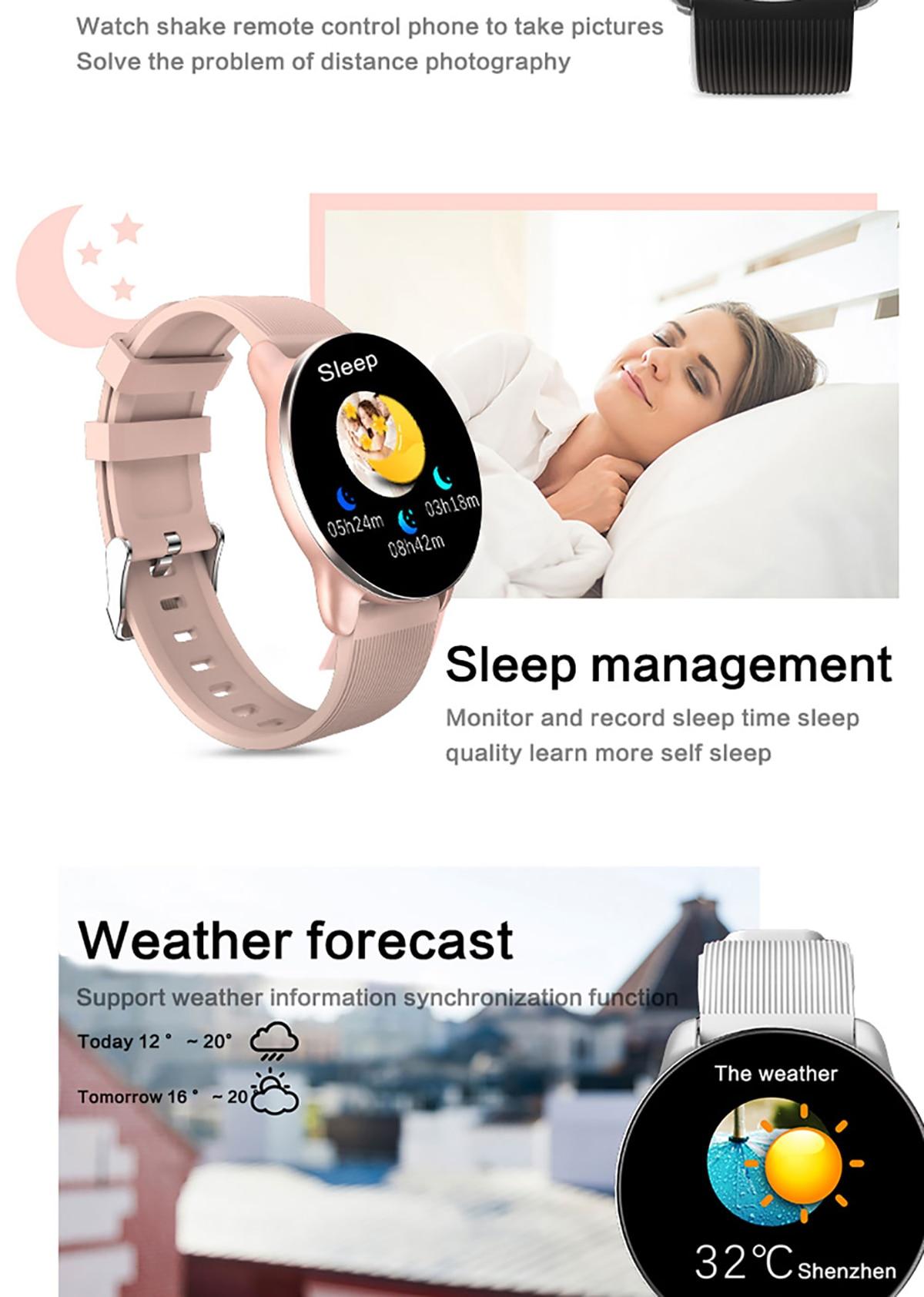 KSUN KSR709 Men Sport Pedometer Smart Watch IP68 Waterproof Fitness Tracker Heart Rate Monitor Women Clock Smartwatch