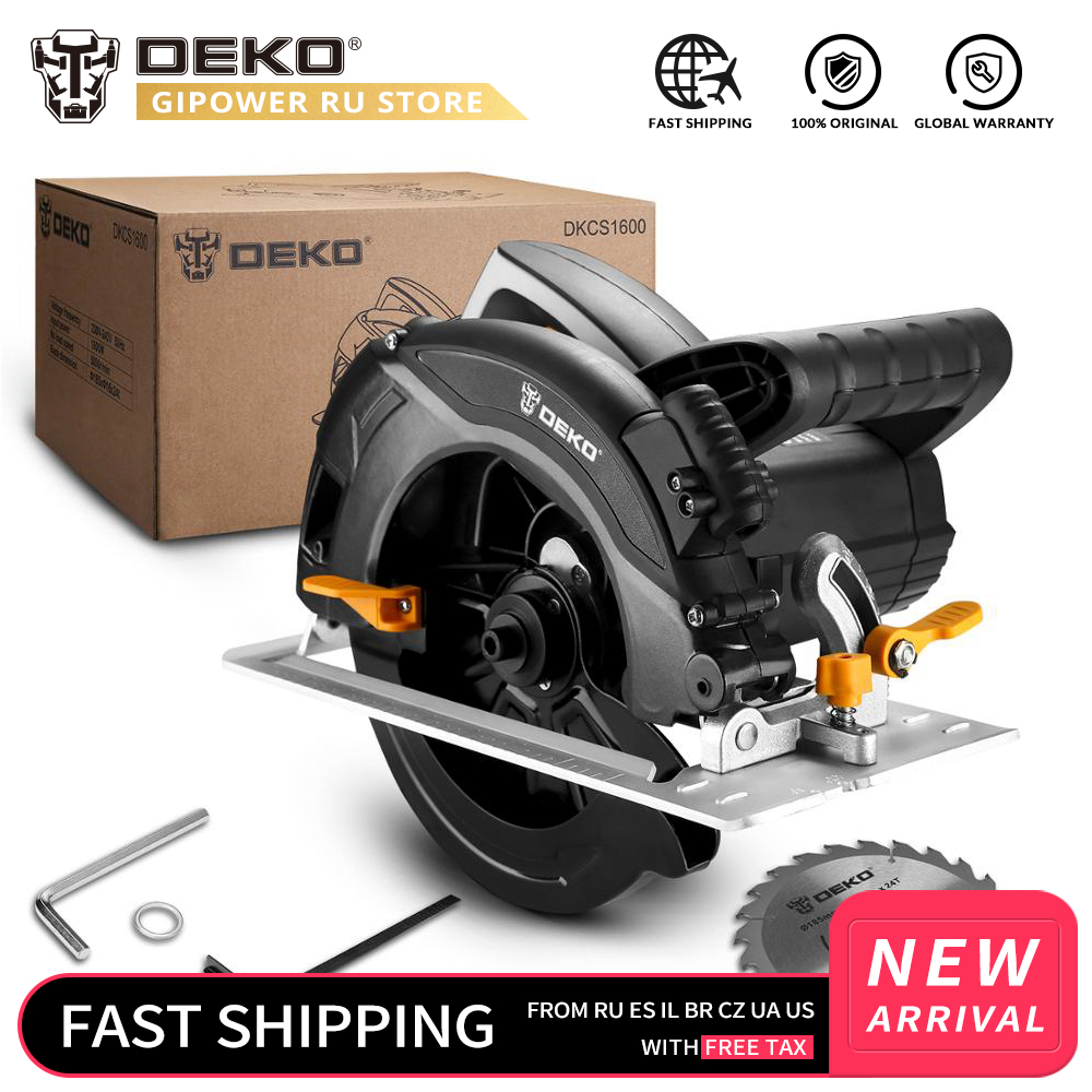 DEKOPRO DKCS1600 Hand-held Home Multi-function High Power Circular Saw Machine For Stone/Wood/Metal/Tile Cutting