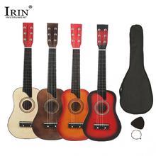 IRIN 25 дюймов Акустическая гитара из липы с сумкой, струны для гитары, аксессуары для детей и начинающих, 6 струн для гитары