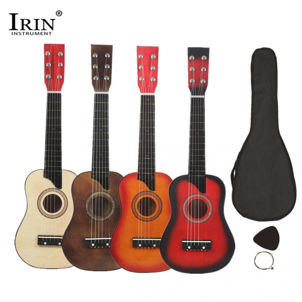 IRIN 25 Inch Basswood Acoustic Guitar With Bag Pick Strings Guitar Accessories For Children And Beginner 6 Strings Guitar