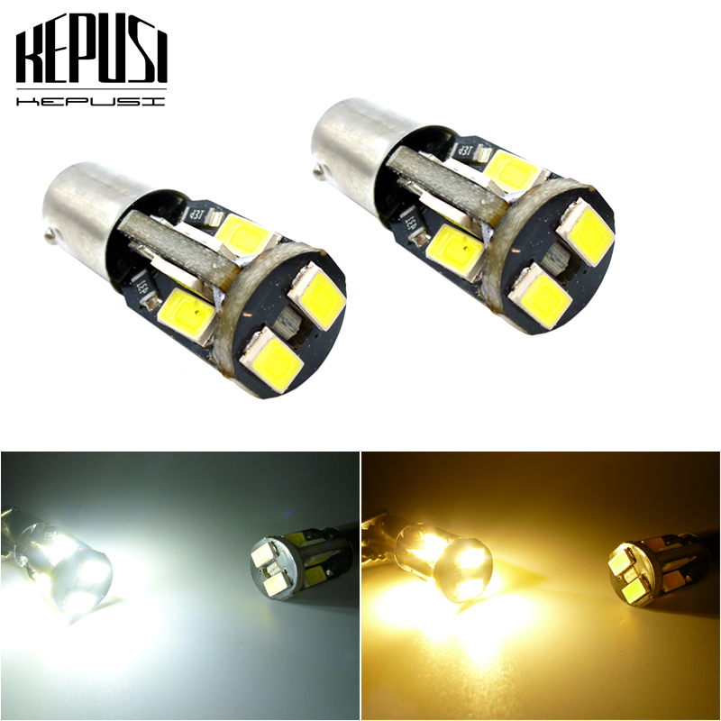 Licence Plate Light Bulbs Lamps 2x White 5-SMD LED No Error Free Canbus Number