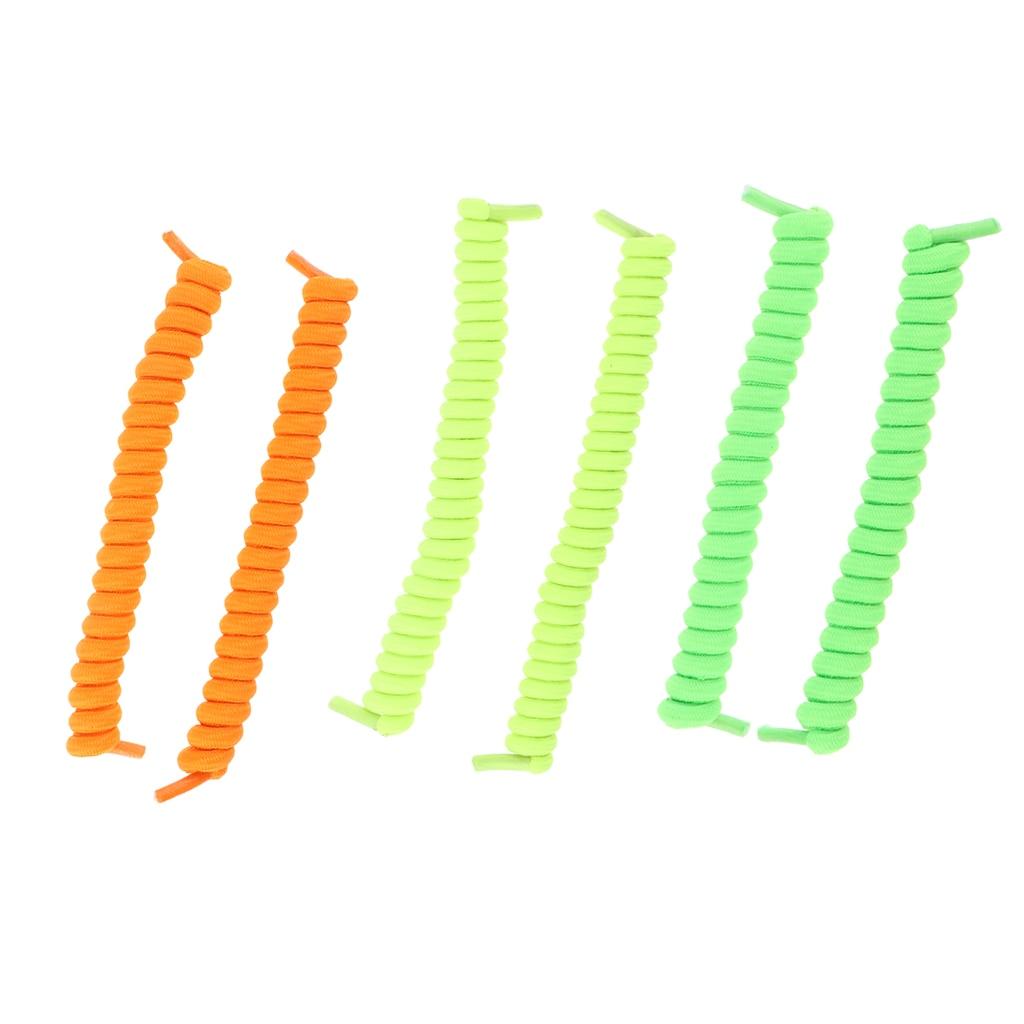3pairs/pack No Tie Elastic Shoe Strings Shoelaces Lazy Spring Shoe Laces for Men Women