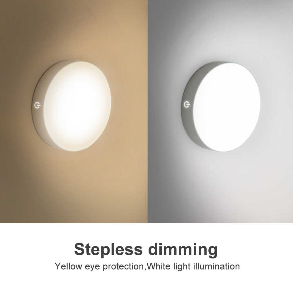 6 leds pir sensor de movimento luz da noite para quarto escadas armário armário sem fio usb recarregável lâmpada parede