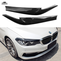 Carbon Fiber Front Headlight Covers Eyelids eyebrows for BMW 525i 530i 540i 2017 2019 G30 G31 F90 M5 Sedan Sport styling 2pcs