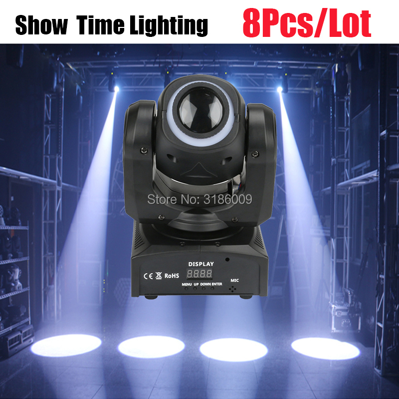 Powerful 30W Dj Led Gobo Moving Head With Led Strip Could Adjust Focus The Image With DMX 512 Disco Lights High Bright Show Time