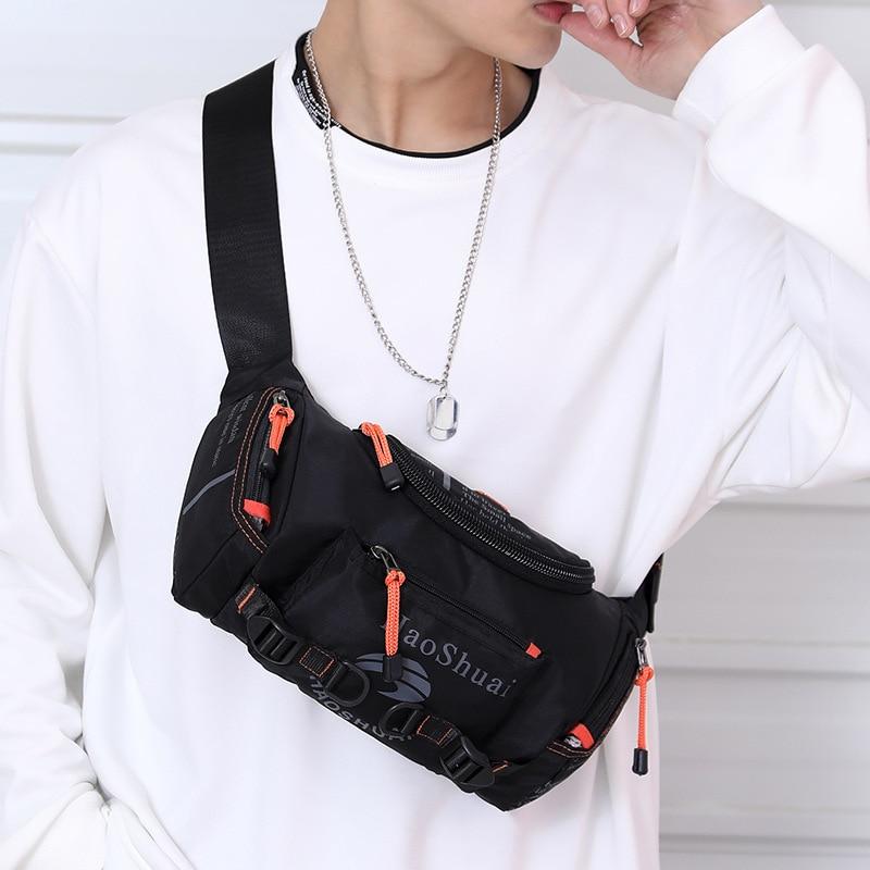 Shoulder Bag Waterproof Breast Package Riding Hiking Mass Running Bag Waist Bag  Phone Bag  Chest Bag Cangurera Para La Cintura