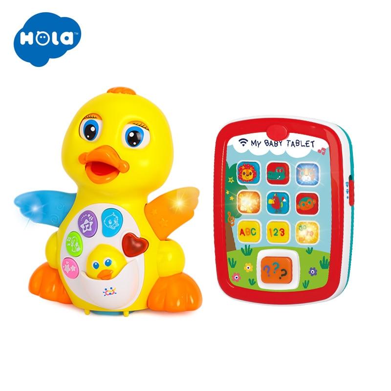 HOLA 808 & 3121 canard jaune et ordinateur apprentissage Machine tablette jouet pour enfants cadeau