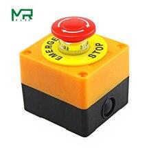 1 шт., пластиковая оболочка, красный знак, кнопочный переключатель DPST, гриб, Кнопка аварийной остановки, переменный ток, 660 В, 10 А, нет+ NC LAY37-11ZS