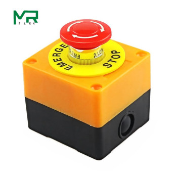 цена на 1PCS Plastic Shell Red Sign Push Button Switch DPST Mushroom Emergency Stop Button SwitchAC 660V 10A NO+NC LAY37-11ZS