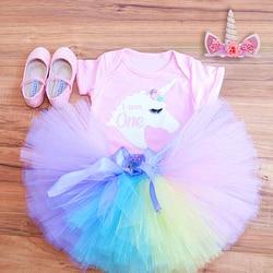 Детское платье-пачка с единорогом, на 1 год