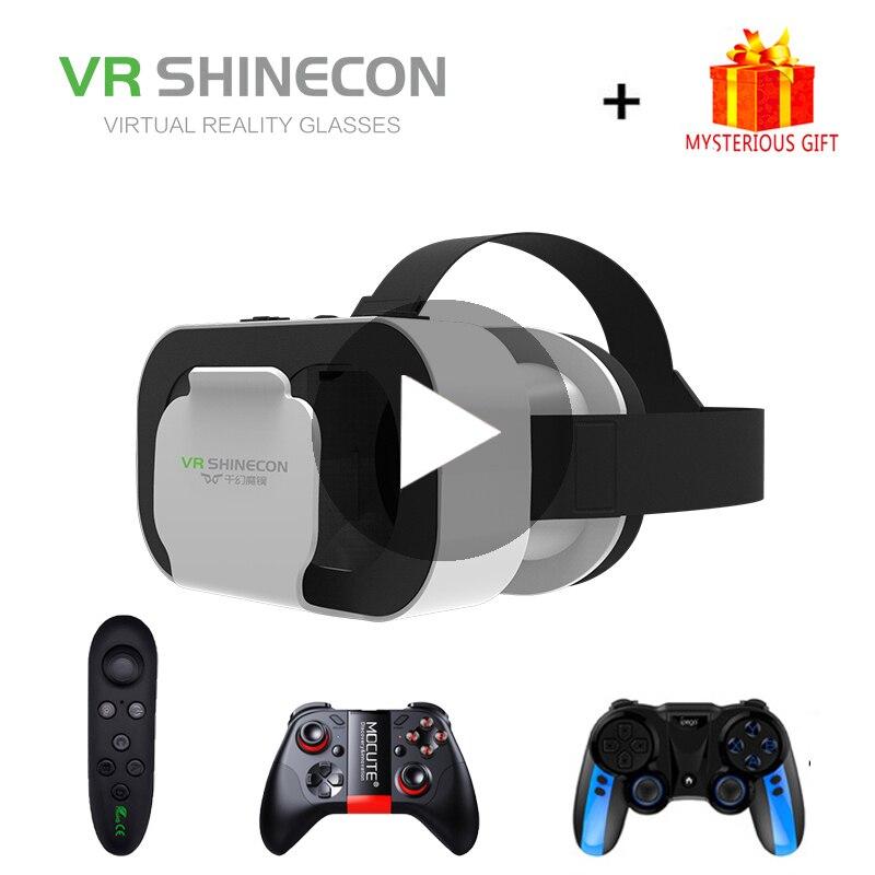 VR Shinecon G05A вр видео шлем виртуальной реальности очки 3D 3 D для iPhone Android VR смартфона умные виар игр смарт смартфонов дополненной телефона компле...