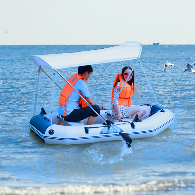 Outdoor Water Inflatable Boat 2-6people PVC Inflatable Boat Dinghy Fishing Rowing Boat For Drifting Surfing With Aluminum 2