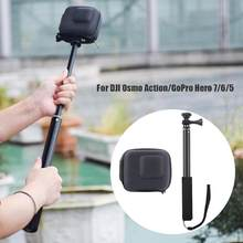 Mini Hard Case Bag Telescopic Pole Monopod Small Light Durable Easy to Operate Portable for DJI Osmo Action GoPro Hero 7 6 5(China)