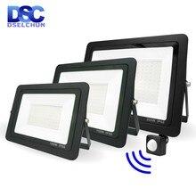 LED PIR Motion Sensor Flood Light 200W 150W 100W 50W 30W 20W 10W Outdoor Lighting Floodlight Spotlight IP66 Waterproof Led Lamp